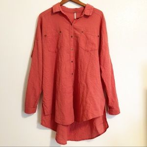 {Free People} Button Up Long Sleeve